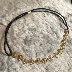 Nina Gold Flower Headband